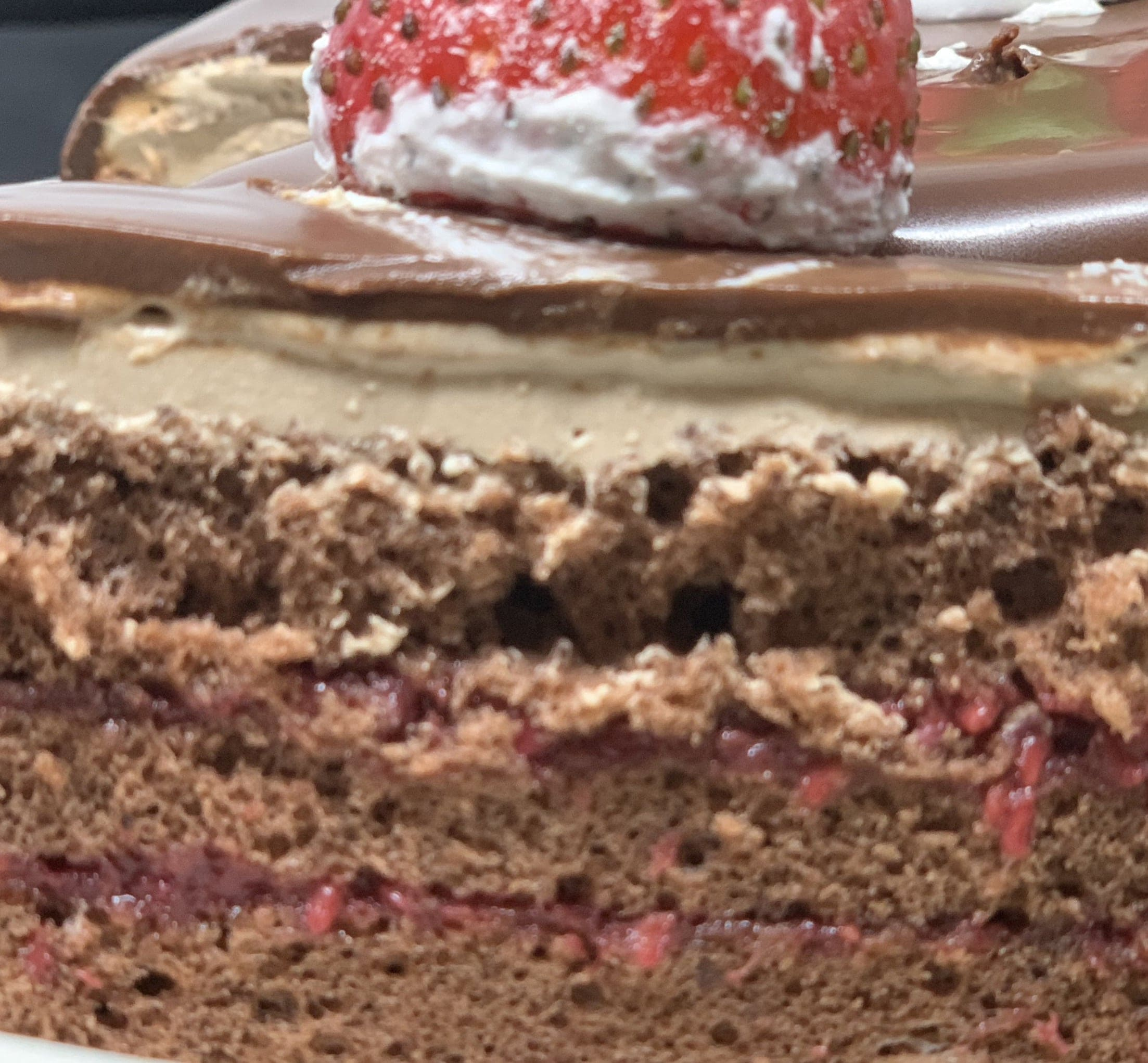 【店頭受け取り専用】チョコと木苺のクリスマスケーキ5号(4人から6人用)のイメージその2