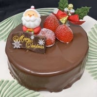 【店頭受け取り専用】チョコと木苺のクリスマスケーキ5号 11月限定ポイント30%増量中