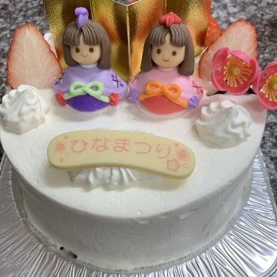 ひな祭りケーキ生クリーム5号サイズ