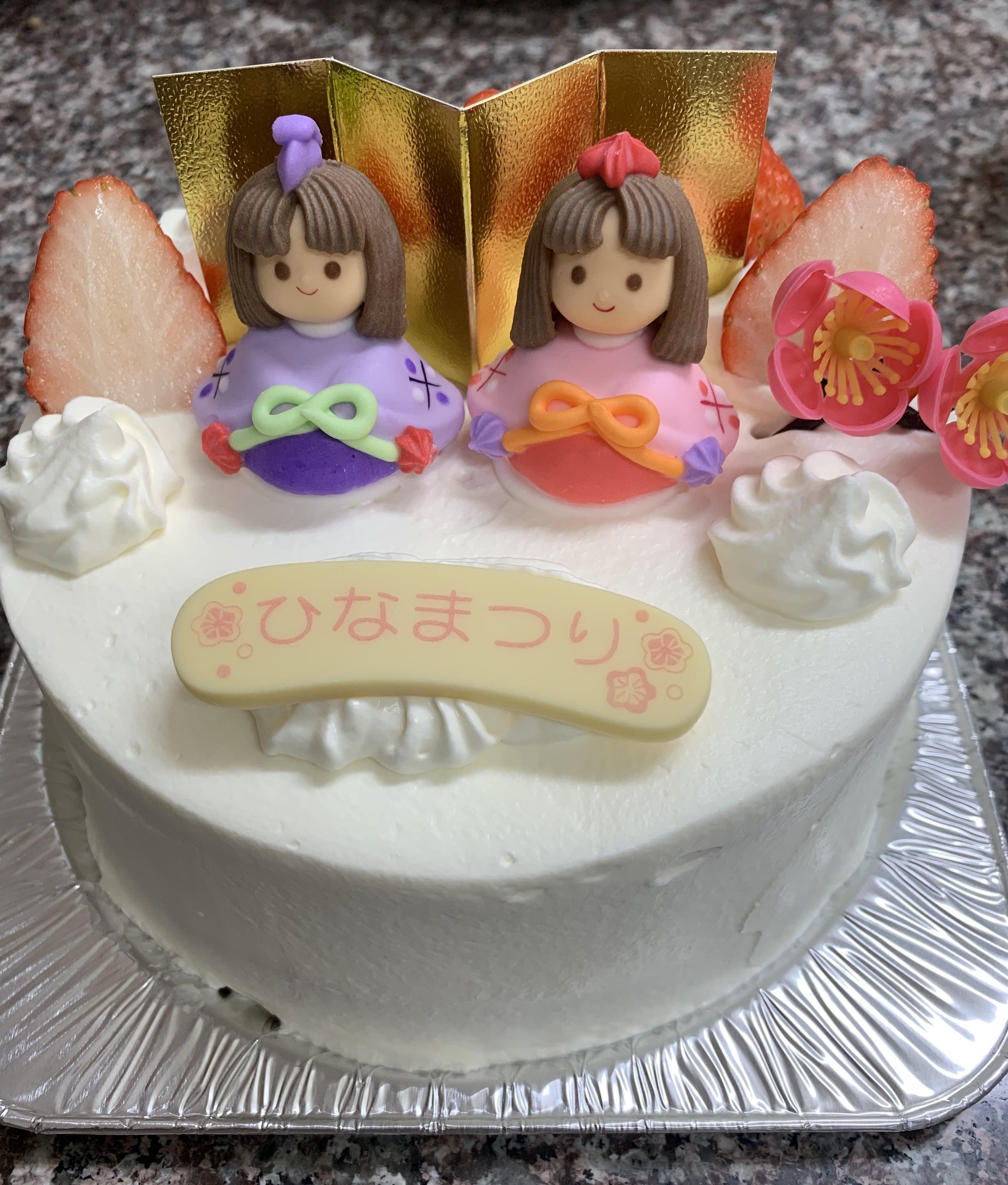 ひな祭りケーキ生クリーム5号サイズのイメージその1