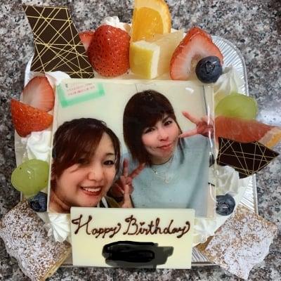 【3日前予約受付け】写真入り誕生日ケーキ生クリーム7号