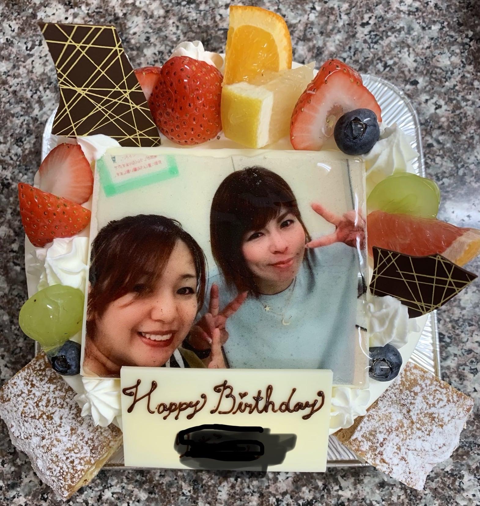 【2日前予約】写真入り誕生日ケーキ生クリーム5号のイメージその1