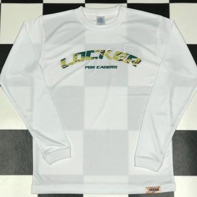 CAGERS CAMO LOCKER LOGO LONG SLEEVE White×Green