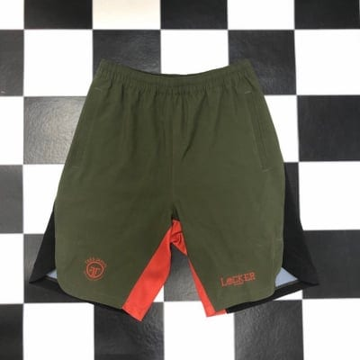 LOCKER×TRES Shorts Green×Black