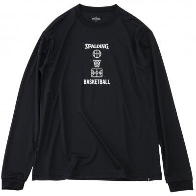 Longsleeve Basketball motif BLACK COLOR【SALE】 XLsize