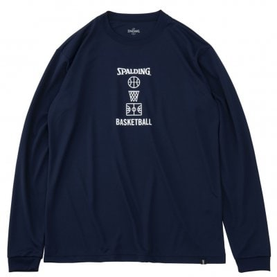 Longsleeve Basketball motif NAVY COLOR【SALE】 Lsize
