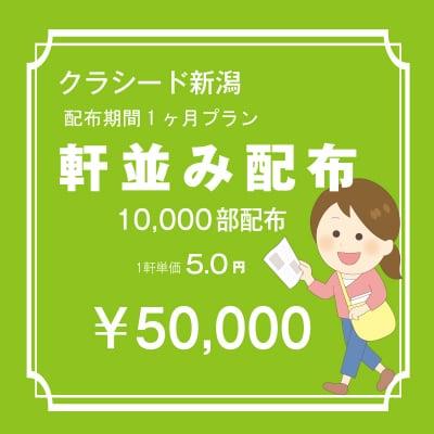 長岡市内 軒並み 10,000枚 配布期間一ケ月プラン