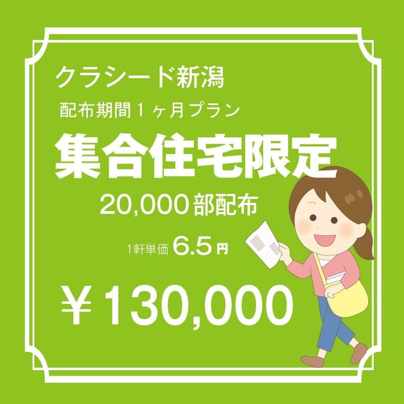長岡市内 集合住宅限定 20,000枚 配布期間一ケ月プラン のイメージその1