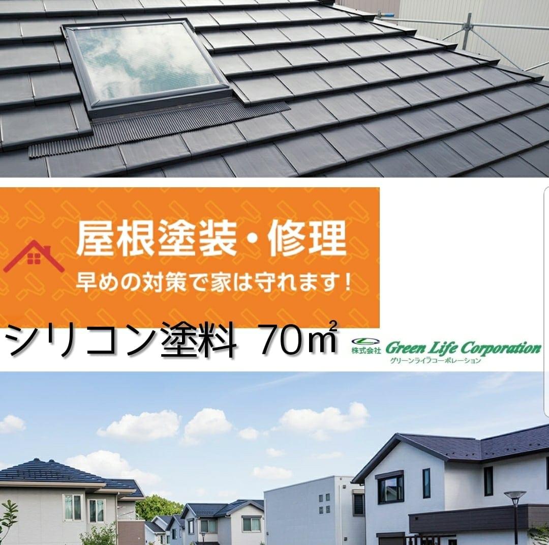 屋根シリコン塗装70平米[現地一括払い]足場代は含んでいませんのイメージその1