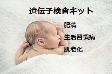 遺伝子検査キット(肥満・生活習慣病・肌老化キット+検査結果解説アドバ...