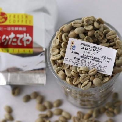 生豆 コロンビア(オーガニック農園指定)エクセレソ  100g