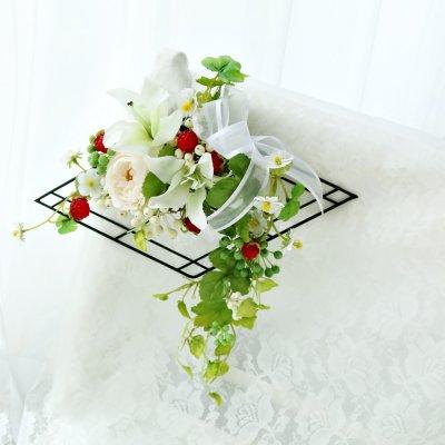 お花のインテリア ラズベリーの壁掛けアレンジ (東京|八王子|フラワーギフト&レッスン|スターリリーフラワーズ)