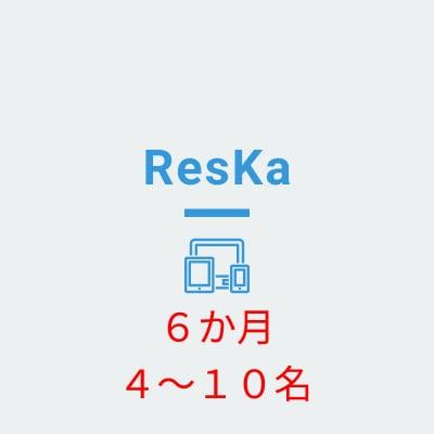 ResKa(担当者4〜10名) 6か月分