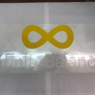infinityBalanceカッティングステッカー長方形白文字/220mmX520mm