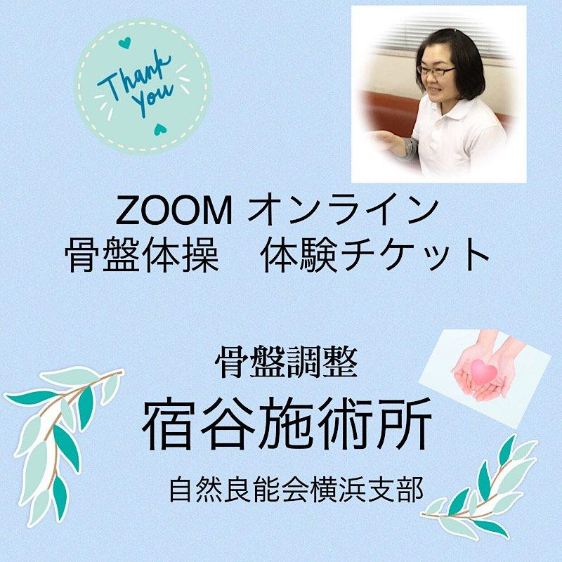 2/26(金)  ZOOMオンライン骨盤体操【体験】チケットのイメージその1