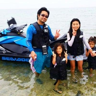 沖縄レンタルトライク4H+無人島ジェットスキー(水上バイク)ツアー