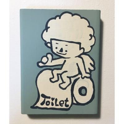 【手描きのチビ絵】トイレットエンジェル on トイレットペーパー