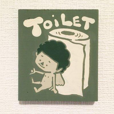 [複製]【手描きのチビ絵】トイレットエンジェル(Green:Toilet paper)