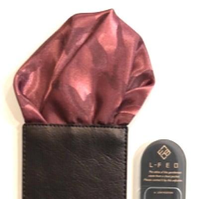 【パッフド・迷彩柄・レッド】ポケットチーフ オーダースーツ仕立屋シュウ・カワグチ