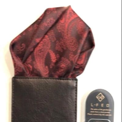 【パッフド・ペイズリー・レッド】ポケットチーフ オーダースーツ仕立屋シュウ・カワグチ