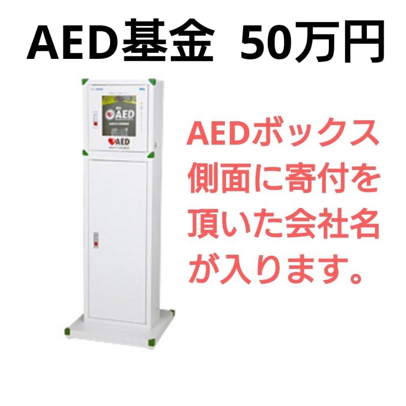 寄贈者名入りAED募金 AED基金 500,000円(税抜)のイメージその1