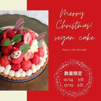 [現地払い専用]数量限定クリスマスケーキ[いちごタルト/グルテンフリー/VEGAN]