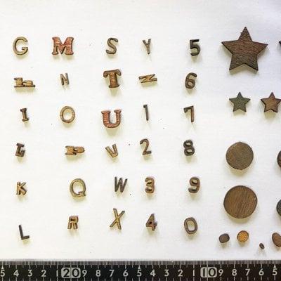 【木製文字パーツ】木製,切り文字,アルファベット,工作 no.1