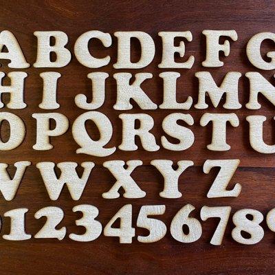 【木製文字パーツ】木製,切り文字,アルファベット,工作,ウェルカムボード