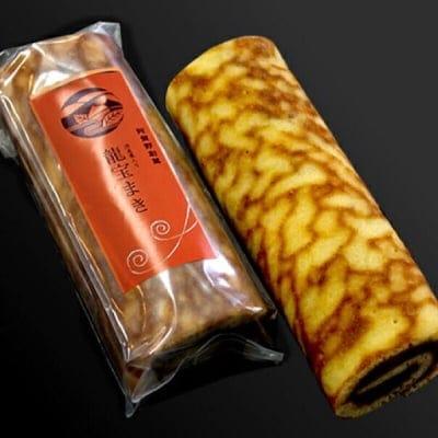渋栗の龍宝まき・2本箱入/秋の味覚栗とあんを炊き上て、米粉100%で焼き...