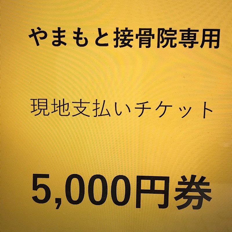 やまもと接骨院専用|現地支払専用チケット(5,000円)のイメージその1