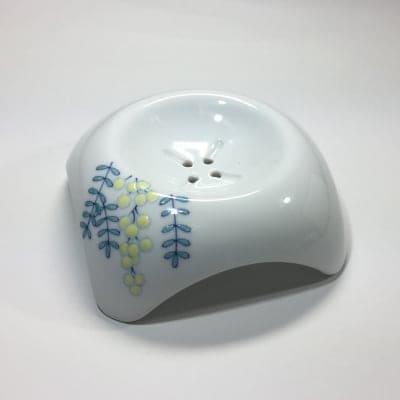 【伊万里焼の伝統の技で石鹸を美しく彩る】「白美の雫」専用ソープディッシュ(ミモザ)