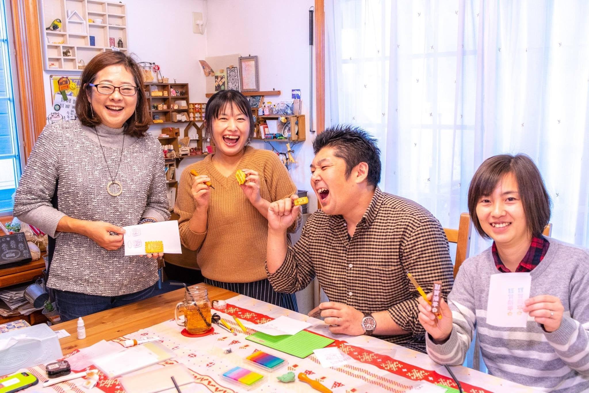 【初回体験】横浜で消しゴムはんこ体験レッスン☆チケットのイメージその2