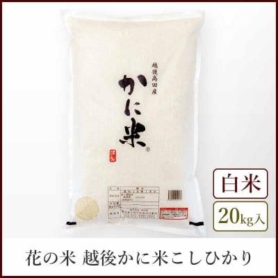【本州送料込】越後かに米コシヒカリ《白米20kg》