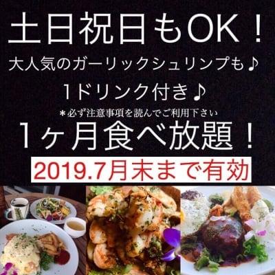 Hawaiian Cafe Dining KOA」お得なウェブチケット 2019年月7末まで有効・1か月定額制食べ放題チケット19980円(定期便15980円)