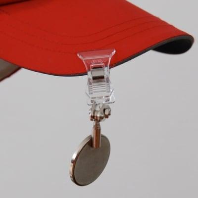 【振込み専用】キャップ・バイザー・帽子用ミラー 自転車安全利用のために