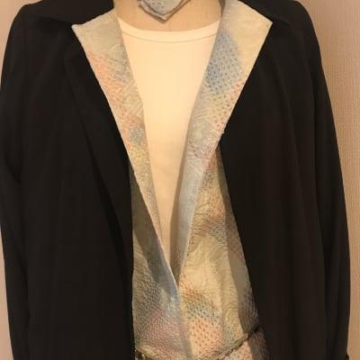着物リメイクコート 喪服礼服・絞りの着物 仕立て例