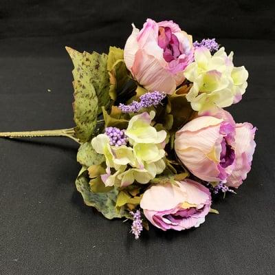 【造花】シックなバラ薔薇ブーケブッシュ/シックなバラ薔薇花束ブッシュ/bq-0001.0002.0003