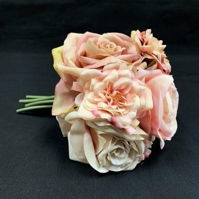【造花】ピンクのバラブーケ/ピンクのバラ花束/ローズ/薔薇/bq-0014
