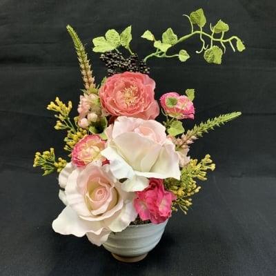 《送料無料》【造花】バラのアレンジ/薔薇/ローズ/ok-0012