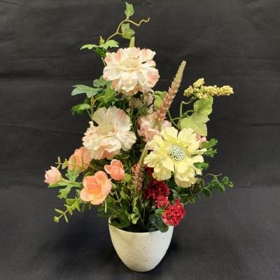 《送料無料》【造花】パステル色のスカビオサで可愛い春アレンジ/ok-0020