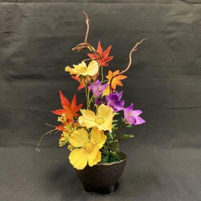 《送料無料》【造花】秋のアレンジ/ok-0033