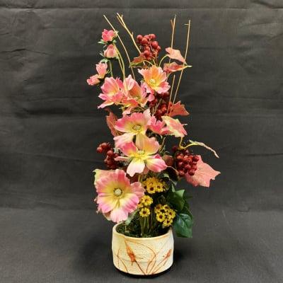 《送料無料》【造花】秋のアレンジ/ok-0034