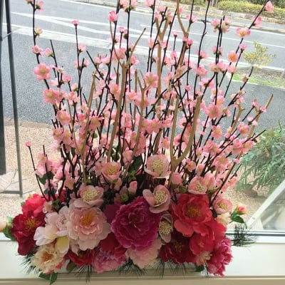 【毎月交換】季節のお花アレンジメント