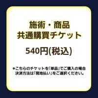施術・商品共通購買チケット/540円(税込)※単品購入の場合は現地払い選択をお願いいたします