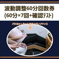 ④波動調整60分回数券 (60分×7回+確認テスト)/パウルシュミット式バイオレゾナンス施術チケット
