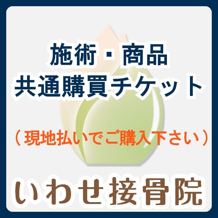 1,000円(税抜)/施術・商品共通購買チケット※単品購入の場合は現地払い選択をお願いいたしますのイメージその1