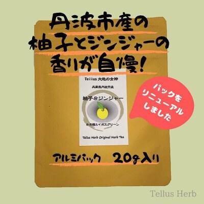 【おいしく夏冷え対策】ゆず&ジンジャーブレンドハーブティー/20g/テ...