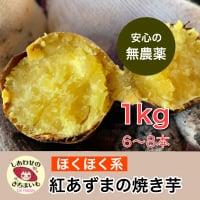 無農薬の焼き芋  ほくほくの紅あずま(無農薬)6〜8本、1キロ