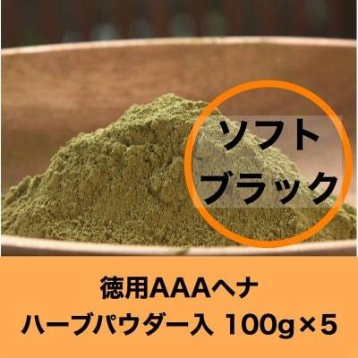 セール【徳用】ソフトブラック 髪染め&デトックス AAAヘナ  100g...