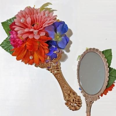 お姫様風フラワー手鏡